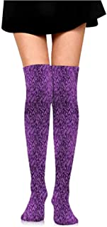 Male Striped Candy Colorful Summer Violet,Dotted Swirls and Blossoms,socks for flats