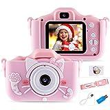 Seamuing Fotocamera Bambini, Mini Ricaricabile Fotocamera Digitale per Bambini Videocamera Regali, 1080P Fotocamera con 32 GB TF Card Due Obiettivi per Bambini