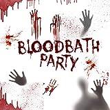 zhongjiany Furchtsames Halloween-Blut-Wundwasser-Transfer-temporäres gefälschtes Tätowierungs-Aufkleber-Make-up(Style01)