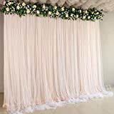 <span class='highlight'><span class='highlight'>Atongham</span></span> Bridal Shower Wedding Ceremony Backdrops Champagne Tulle Chiffon Backdrop Curtains Newborn Baby Shower Backdrop Photo Booth Background Photography