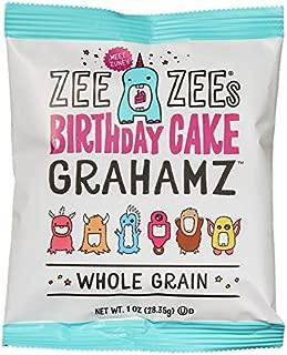 Zee Zees Birthday Cake Grahamz, Nut Free, Whole Grain, 1 oz, 24 pack
