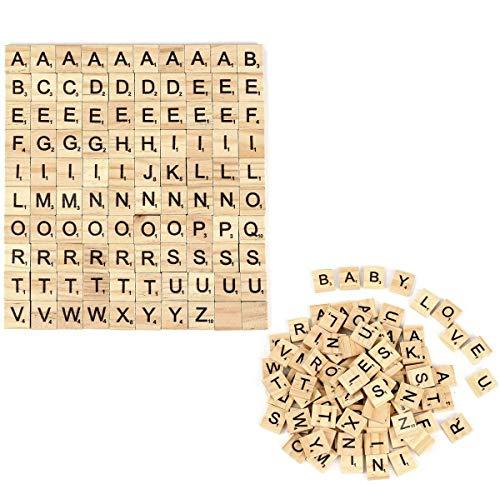 200 Stück Holz Alphabet Buchstaben Buchstabene Crafts für das Kunsthandwerk,Vorschulerziehung für Kinder Buchstaben zum Spielen