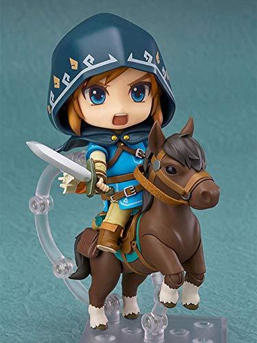 Statue The Legend of Zelda Link-Q Version Nendoroid Austauschbare Gesicht PVC Anime Cartoon Game Character Modell Statue Figur Spielzeug Collectibles Dekorationen Geschenke Lieblings von Anime-Fan Ges
