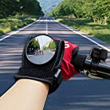 WISAMIC Wide Angle Cycling Bicycle Bike Rear View Mirror Wrist Guards Wristbands Back