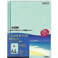 コクヨ クリヤーブック替紙 A4縦30穴 緑 200枚 Japan