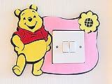 London Golden Swan Super Cute 3D Winnie the Pooh Light Switch Wall Sticker, Vivid Bright Colours! Premium Quality Thick Felt Material, Children Boys Girls Bedroom Nursery Room Decor!