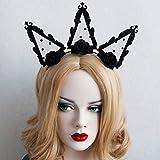 Cintas de Pelo para Mujer, Etapa Catwalk Discoteca Bar Crown Halloween Decoraciones De Navidad Hembra Joyas, Diadema Elástica Envoltura De Cabeza Suave Elástica Hairband Lindo Accesorio para El Cab