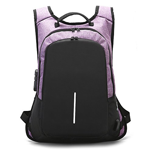 LASTARTS Travel Laptop Backpack,Business Anti Theft Slim Durable Laptops Backpack With USB Charging Port,Water Resistant College School Computer Bag For Women & Men Fits 15.6 Inch Laptop And Notebook