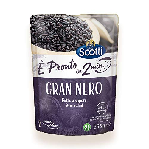 Riso Scotti - Rapid Gran Nero È Pronto in 2' - Riso Nero Cotto al Vapore - 255 gr