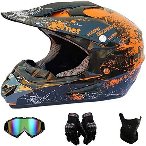 AMCYT Motocross Helme Motorradhelm Cross Helme Schutzhelm Motocross Helm Für Motorrad Crossbike Off Road Enduro Sport Jugend Motocross Helm Kinder Motorrad Fahrrad Helm (M)