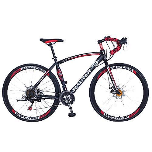 DRAKE18 Bicicleta de Carretera 27 Pulgadas, Cambio de 30 velocidades, Doble Disco, Freno 700c, Curva para competir con Estudiantes Adultos a Caballo