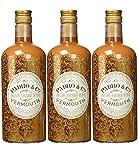 Vermouth Padró & Co Dorado Amargo Suave - 3 botellas de 750 ml, Total: 2250 ml