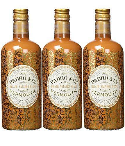 Vermouth Padró & Co Dorado Amargo Suave - 3 botellas de 75 cl, Total: 2250 ml