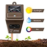 Jellas Soil Moisture Meter - 3 in 1 Soil Tester Kit...