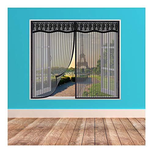 Mosquitera para Ventana,95x120cm Mosquitera Magnética para Ventana, Mosquitera para Puertas y Ventanas, Lavable, Prevenir Insectos y Mosquitos y Moscas
