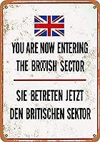 ベルリンの壁 金属板ブリキ看板警告サイン注意サイン表示パネル情報サイン金属安全サイン