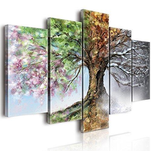 Lupia World Vogue Bild auf Leinwand vier Jahreszeiten, Holz, mehrfarbig, 100x 150x 3cm