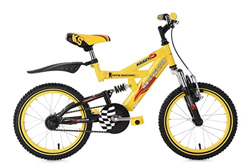 KS Cycling Kinderfahrrad Mountainbike 18\'\' Krazy gelb RH32cm