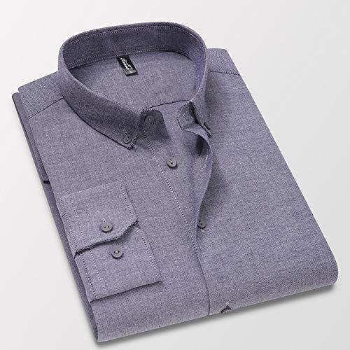 Hemd Hochwertiges Weißes Herrenhemd Mit Langen Ärmeln Aus 100% Baumwolle, Normal Geschnitten, Hellblau, Grau, Smokinghemden L56Kg-62Kg Grau150