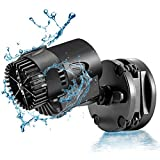 AQQA Aquarium Wavemaker Circulation Pump,360°Adjustable Ultra-Silence Magnetic Mount Suction Submersible Powerhead Pump,530GPH Freshwater or Saltwater Fish Tank (3W 530GPH)