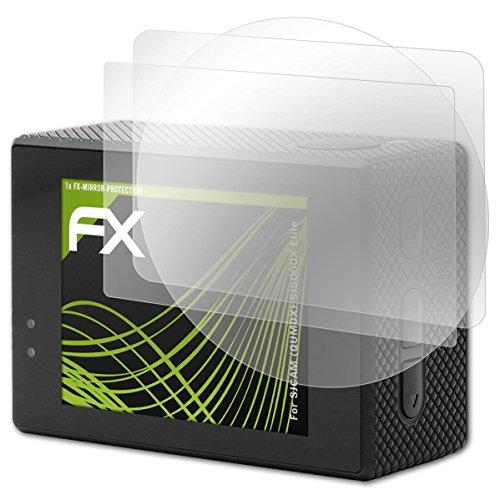 atFoliX Protección de Pantalla Compatible con SJCAM (QUMOX) SJ5000X Elite Lámina Protectora Espejo, Efecto Espejo FX Protector de Pantalla Espejo (Set de 1)
