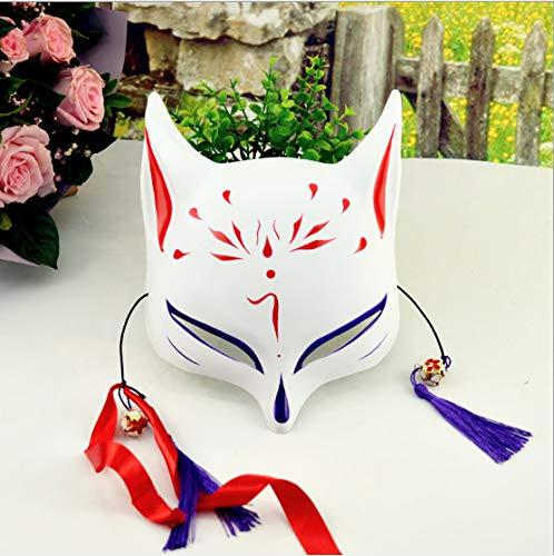 Fox Maske Yin Und Yang Halbes Gesicht Handbemalt Und Wind Erwachsene Japanische Cos Katze Gesicht Halloween Make-Up Universal Dekoration
