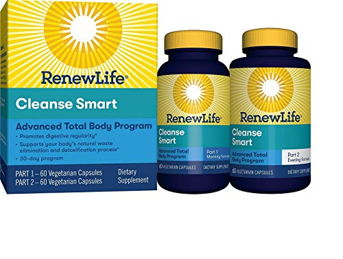 Renew Life Adult Cleanse - Cleanse Smart - 2-Part, 30-Day Program - Gluten & Soy Free - 120 Vegetarian Capsules (Package May Vary)