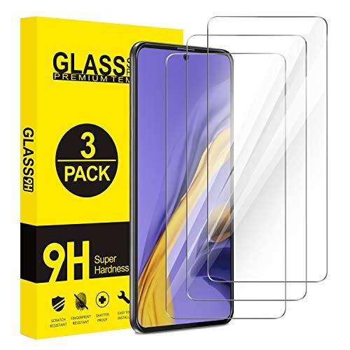 ivencase 3-Pack Protector Pantalla Compatible con Samsung Galaxy A51, Cristal Templado 9H Dureza, Alta Definicion, Protector Pantalla para Samsung Galaxy A51 4G/5G