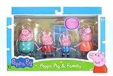 Peppa Pig 92611 - Set di 4 personaggi di Peppa Pig, con Peppa, Schorsch, Mamma e Papa Pig,...