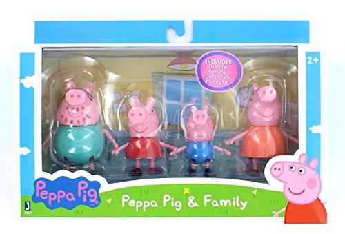 Peppa Wutz Peppa & Familie 4er Spielfigurenpack 92611 - mit Peppa, Schorsch, Mama und Papa Wutz als Spielfiguren zum kreativen Spielen, ideales Spielzeug für Kinder ab 3 Jahren