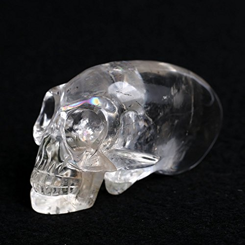 Skull Clear Crystal Stone Figurine Statue Natural Healing Skull Quartz Sculptures Home Decor