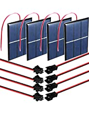 RUNCCI-YUN 4pcs 1.5V 0.65W 60X80mm Micro Mini Células de Panel Solar ,policristalino,De Epoxy Panel Solar,portátil,para Hogar DIY, Proyectos Científicos - Juguetes - Cargador de Batería