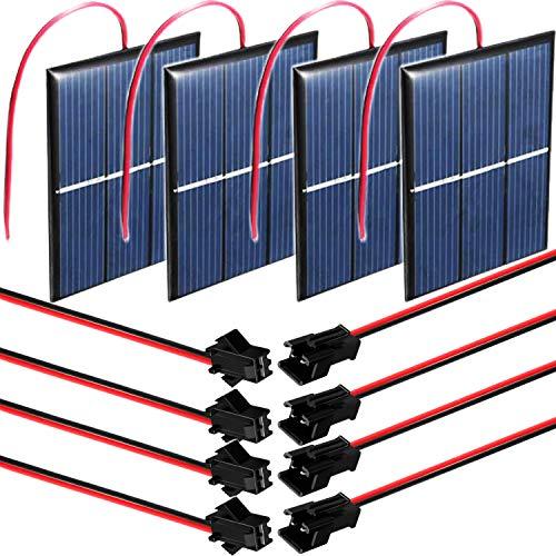 RUNCCI-YUN 4pcs 1.5V 0.65W 60X80mm Mini Pannelli solari , epossidico Pannello,Pannello Solare Portatile per energia Solare, Home DIY, Progetti di Scienza - Giocattoli - Caricabatterie