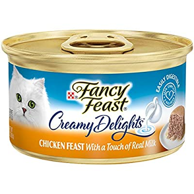 Purina Fancy Feast Pate Wet Cat Food, Creamy Delights Chicken Feast With a Touch of Real Milk - (24) 3 Ounce Cans