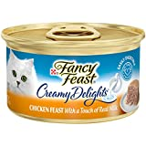 Purina Fancy Feast Pate Wet Cat Food, Creamy Delights Chicken Feast With a Touch of Real Milk - (24)...