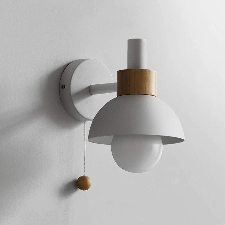 HJGYT Nordischen Stil Wandleuchten Wohnzimmer Badezimmer Badezimmer Schlafzimmer Nachttischlampen einfache warme Macarons Farbe Wandleuchten Korridor Gang dekorative Beleuchtung (Farbe   Weiß)
