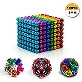 QUCHENG Bacchette magnetiche 448 e 5 mm per Piastre magnetiche, lavagne Bianche, frigoriferi, soluzioni per la riduzione dello Stress Creativo, Costruzioni, Puzzle 3D a Colori per Adulti / Bambini