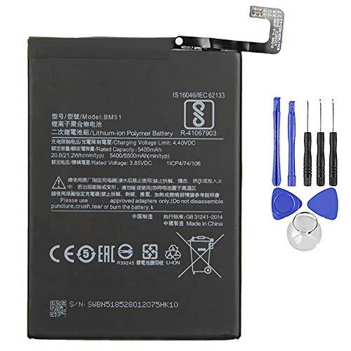 Ellenne Batería compatible con Xiaomi Mi Max 3 BM51 5500 mAh con kit de desmontaje incluido