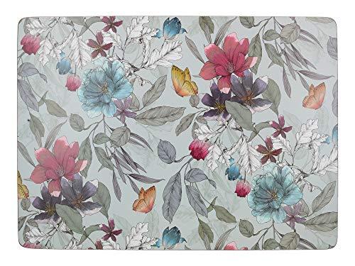 CREATIVE TOPS Platzsets mit Schmetterlingsmotiv, rechteckig, mit Kork-Rückseite, Mehrfarbig, 40 x 29 cm
