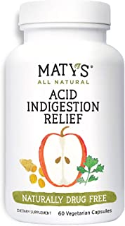Sponsored Ad - All Natural Acid & Indigestion Relief, 60 Capsules, Safe, Effective, Drug Free Relief For Heartburn, Made W...