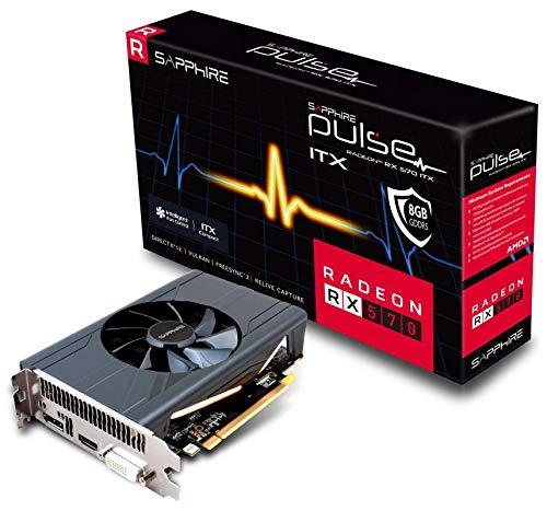 Sapphire AMD Radeon RX 570 Pulse OC ITX 8GB GDDR5 Grafikkarte HDMI/DP/DVI