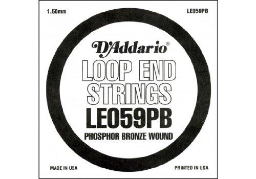 D'Addario LE059PB, cuerda individual de bronce fosforado con terminación de lazo, .059
