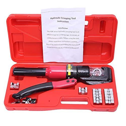 SISHUINIANHUA Haushalt 8T Hydraulische Presse-Zangen 4-70mm 9 Mold