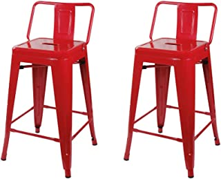 GIA M01-24B_RED_2_VC 24-Inch Low-Back Counter Height Stool, 2-Pack