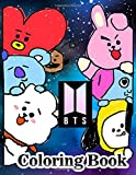 BTS Coloring Book: for ARMY, KPOP lovers Love Yourself Book 8.5 in by 11 in Size - Hand-drawn ... Jin, RM, JHope, Suga, Jimin, V, and Jungkook
