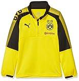 PUMA BVB 1/4 Training Top with Sponsor Logo Camiseta, Infantil, Cyber Yellow Black, 176
