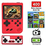 Handheld Game Console 3.0 Inch Screen Portable Video Game Console,Built-in 400 Classic Games,Supporting 2 Players and TV Connection,1020mAh Rechargeable Battery, Good Gifts for Kids Adults