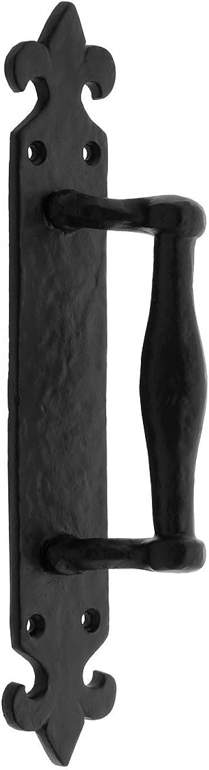 French Gothic Door Pull with Coated Finish Black Beauty High material products Powder