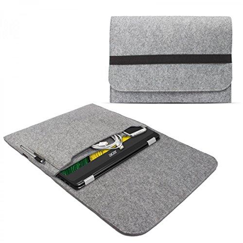eFabrik Sleeve Cover per Acer Spin 7 / Acer Spin 5 13,3' Caso Laptop Universale Custodia di Protezione Ultrabook Feltro Grigio