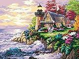 5D DIY diamante pintura faro bordado punto de cruz paisaje costura decoración del hogar pintura A5 50x70cm